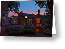 Courthouse Square Greeting Card