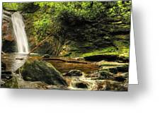 Courthouse Waterfall Greeting Card