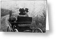 Courtship/carriage Ride Greeting Card