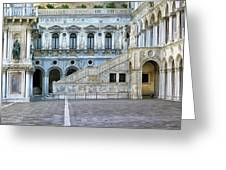Courtyard At The Doge Palace Greeting Card