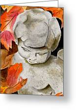 Courtyard Cherub Greeting Card
