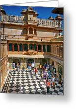Courtyard, City Palace, Udaipur Greeting Card