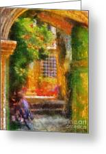 Courtyard In Cavtat Greeting Card