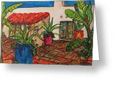Courtyard In Rancho Santa Fe Greeting Card