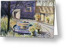 Courtyard In The Morning Greeting Card