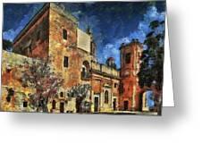 Courtyard, Mellieha, Malta Greeting Card