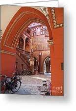 Courtyard Of Basel Town Hall Greeting Card