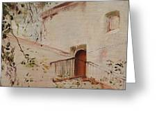 Courtyard View Greeting Card