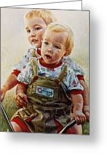 Cousins Greeting Card by Jean Hildebrant