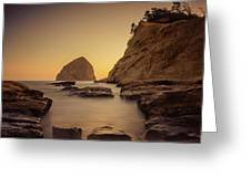 Cove Sunset Greeting Card