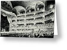 Covent Garden Theatre, 1795 Greeting Card