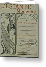Cover Page From Lestampe Moderne Greeting Card