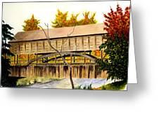 Covered Bridge - Mill Creek Park Greeting Card
