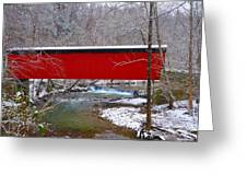 Covered Bridge Along The Wissahickon Creek Greeting Card