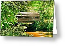 Covered Bridge At Lanterman's Mill Greeting Card