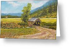 Covered Bridge At Little Creek Greeting Card