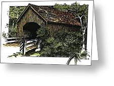 Covered Bridge At Yachats Oregon Greeting Card by Donald Aday