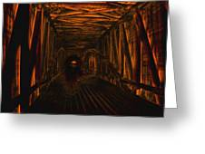 Covered Bridge Illumination Greeting Card