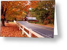 Covered Bridge In Brattleboro Vt Greeting Card