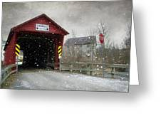Covered Bridge In Logan Mills Greeting Card