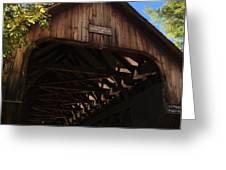 Covered Bridge In Woodstock Greeting Card