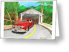 Covered Bridge Lincoln Greeting Card