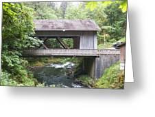 Covered Bridge Of Cedar Creek Greeting Card