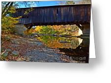 Covered Bridge Over The Cold River Greeting Card