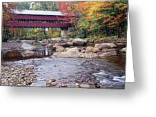 Covered Bridge Over The Swift River  Greeting Card