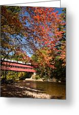 Covered Bridge Over The Swift River In Conway Greeting Card
