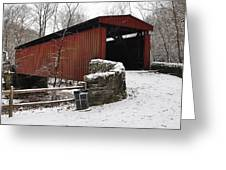 Covered Bridge Over The Wissahickon Creek Greeting Card by Bill Cannon