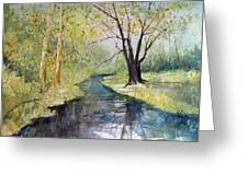 Covered Bridge Park Greeting Card