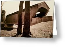 Covered Bridge Southern Indiana Greeting Card