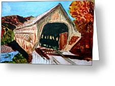 Covered Bridge Woodstock Vt Greeting Card