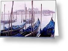 Covered Gondolas Greeting Card