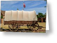 Covered Wagon At Fort Bluff Greeting Card