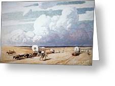 Covered Wagons Heading West Greeting Card