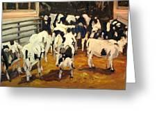 Cow Barn Greeting Card