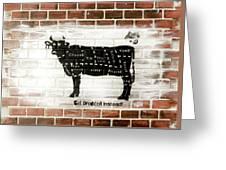 Cow Cuts Greeting Card
