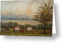 Cow Field Greeting Card