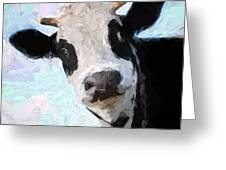 Cow Head Greeting Card