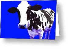 Cow In A Blue World Greeting Card