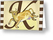 Cow Jump Over The Initialed Moon  Greeting Card by Terri B Webb