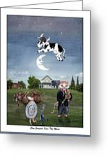 Cow Jumped Over The Moon 2 Greeting Card