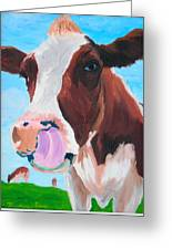 Cow Picking His Nose Greeting Card