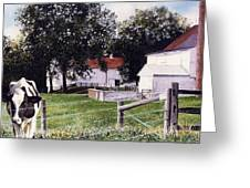 Cow Spotting Greeting Card by Denny Bond