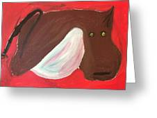 Cow With Udder Greeting Card