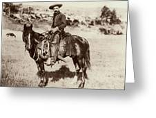 Cowboy, 1887 Greeting Card