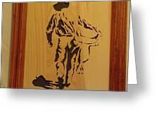 Cowboy And Saddle Greeting Card
