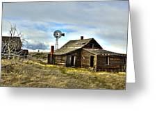 Cowboy Cabin Greeting Card